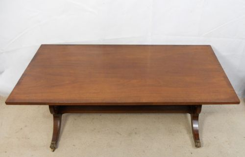 Large Mahogany Twin Pedestal Coffee Table